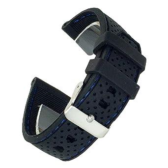 8866c0ecce ドノロロジオ)DonOrologio選べる6色 腕時計 シリコン ベルト 20mm 直カン ラバー バンド ステッチ 蒸れ