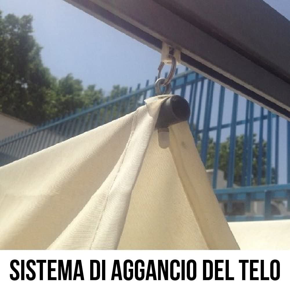 Cenador Firenze 3x4 m. Palos de aluminio, cobertura deslizable, Pérgola, Varanda 784/2: Amazon.es: Jardín
