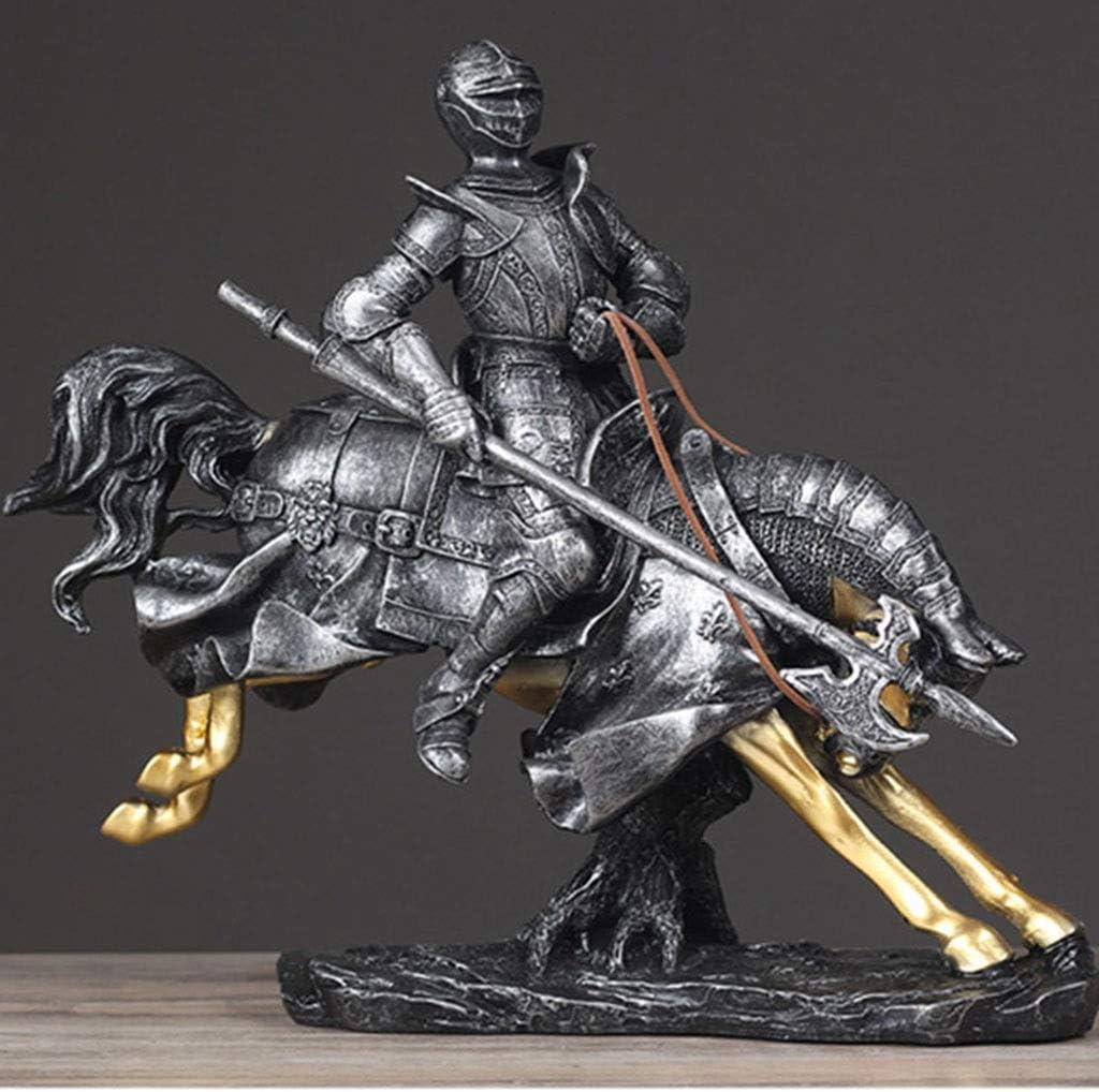 HBWJSH Manualidades · Talabartería Nórdica Adornos De Samurai Accesorios De Escritorio For El Hogar Vintage Multi-Opcionales (Color : Riding Samurai B)