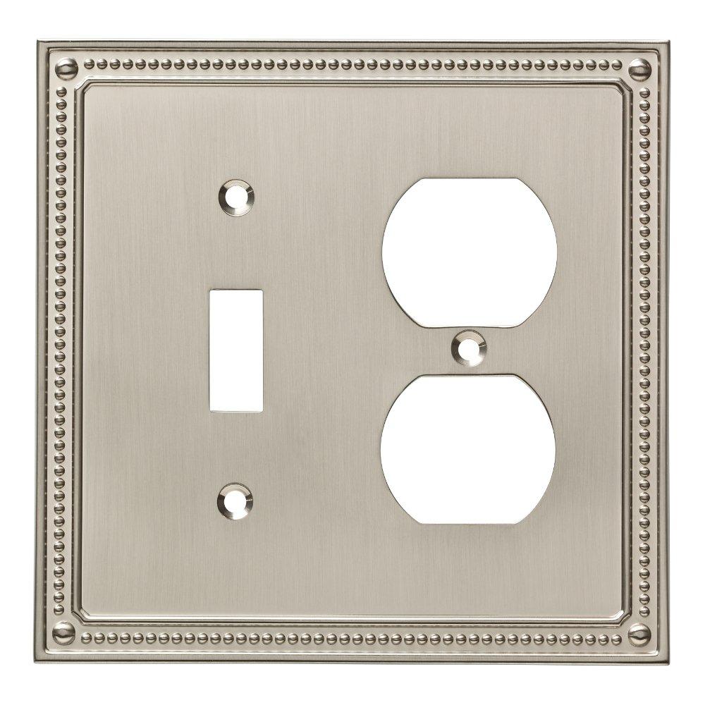 Franklin Brass W35062-SN-C Classic Beaded Switch/Duplex Wall Plate/Switch Plate/Cover, Satin Nickel by Franklin Brass