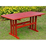 International Caravan TT-RE-07-BRD-IC Furniture Piece Acacia Rectangular Dining Table For Sale