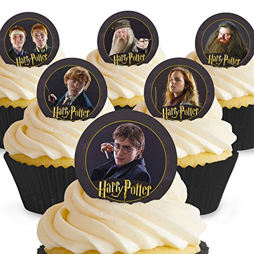 Cakeshop 12 x PRE-CUT Harry Potter Edible Cake -