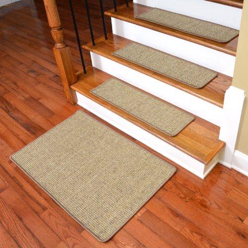 Dean Attachable Non Skid Sisal Carpet Stair Treads   Dese.