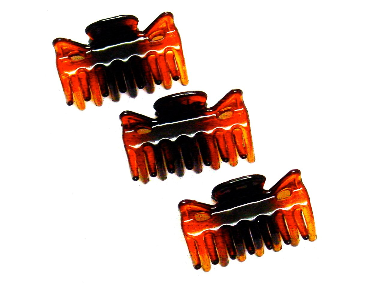 La Peach Fashions Pack Of Three 4cm Ladies Hair Clamps Hair Claw Clips Hair Accessory Clamps (Tort) Accessories