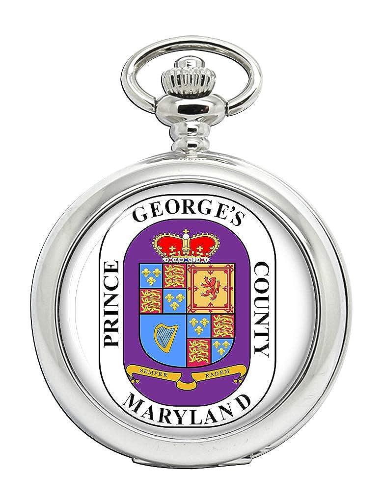 Prince George del Condado de MD (Estados Unidos) Full Hunter reloj de bolsillo: Amazon.es: Relojes