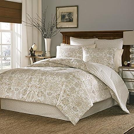 4 Pieces Best Comfort Lightweight Comforter Set In Beige Floral Print Queen Size
