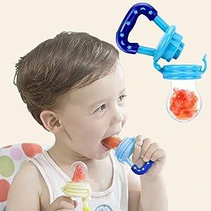 Fresh Fruit Food Kids Nipple Feeding Safe Milk Feeder Baby Pacifier Bottles Nipple Teat Fresh Fruit Nibbler (Small)