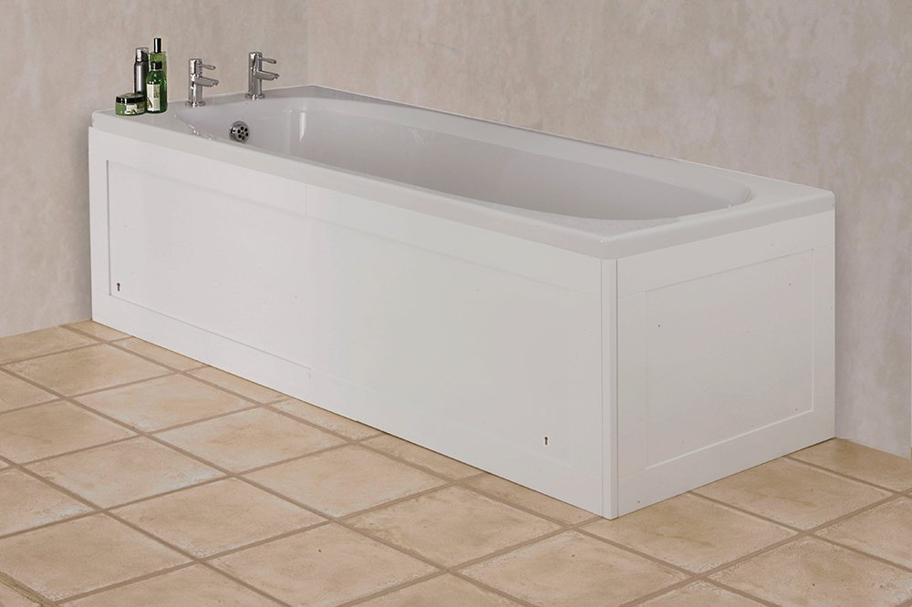 Croydex Unfold-n-Fit - Panel embellecedor para bañera (altura ajustable de 50 a 53 cm, ancho 66 cm), color blanco brillante: Amazon.es: Hogar
