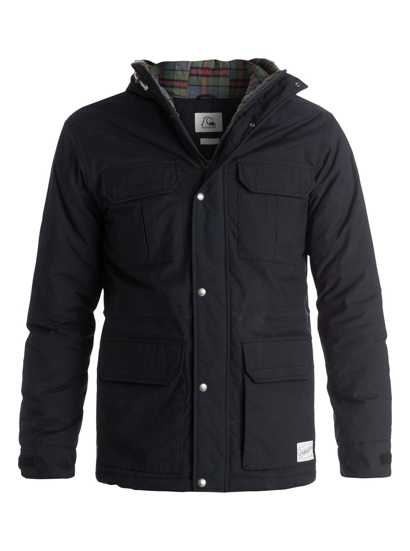 Quiksilver Men's Long Bay Jacket, Anthracite, Medium