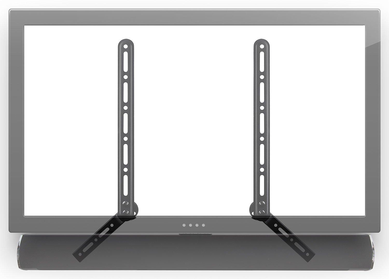 Mount-It! Soundbar Bracket Universal Sound Bar TV Mount For Mounting Above or Under TV, Fits Sonos, Samsung, Sony, Vizio, Adjustable Arm Fits 23 to 65 Inch TVs, 33 Lbs Weight Capacity Black (MI-SB41)