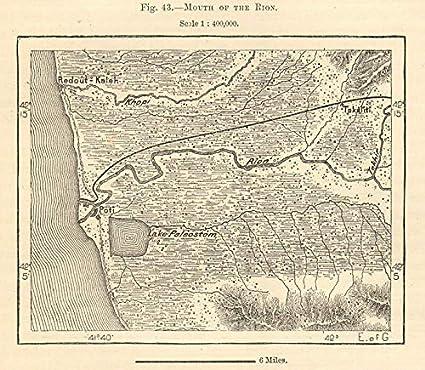 Map Of Old Georgia.Amazon Com Rion Estuary Port Of Poti Georgia Lake Paliastomi