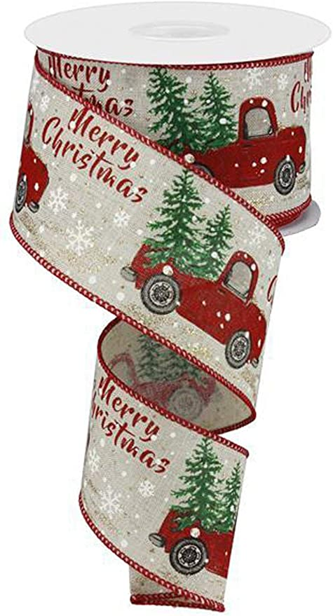 Wired Christmas Ribbon White and Red Ribbon Red Christmas Ribbon Wreath Ribbon Wired Ribbon Christmas Ribbon Holiday Ribbon