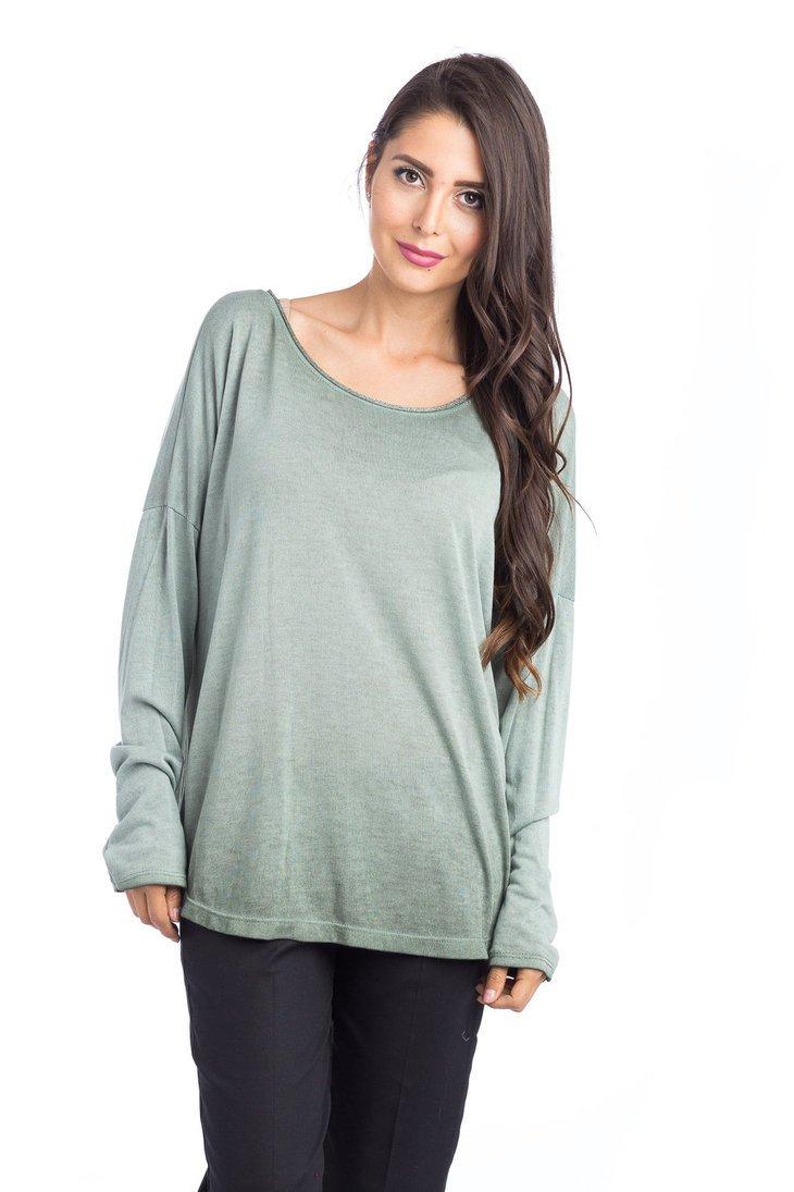 Abbino 15631 Damen Shirts Tops - Made in Italy - Viele Farben - Frühjahr  Herbst Sommer Übergang Damenshirts Damentops Viskose Unifarbe Locker Lässig  Langarm ...