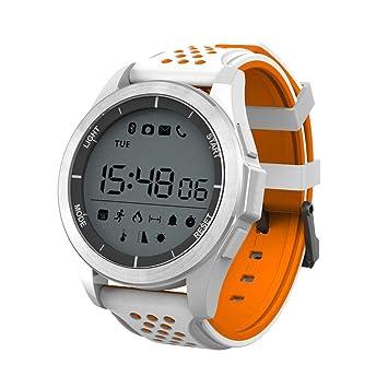 Febelle Reloj Pulsera Inteligente Luz Ultravioleta Luminosa Ip68 Impermeable Elevación Corriendo Smartwatch Podómetro Compatible iOS Android Blanco y ...