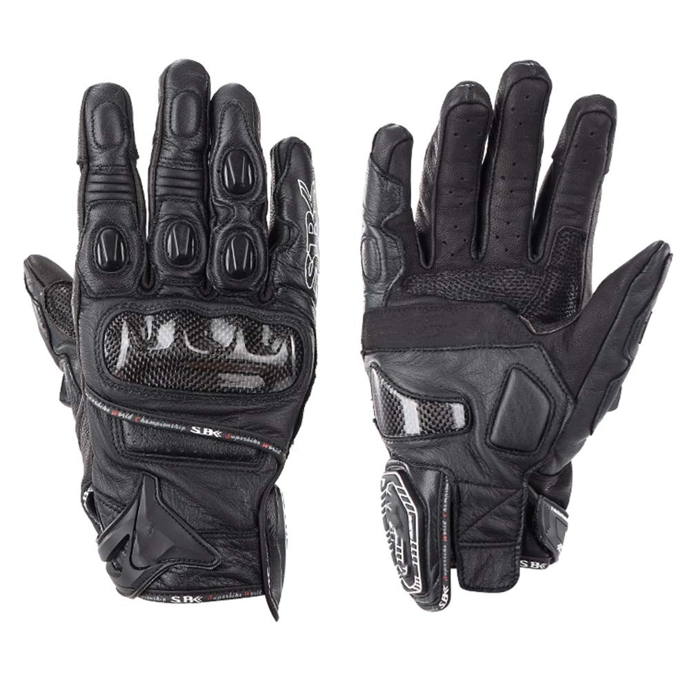 QARYYQ Gloves All Refer to Anti-Fall Summer Men and Women Locomotive Off-Road Racing Riding Carbon Fiber Gloves Gloves (Color : Black, Size : M)