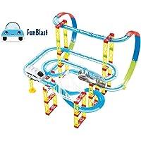 FunBlast Train Track Set for Kids, Train Block Set for Kids, Train Set for Kids with Big Track- Set of 105 Pcs