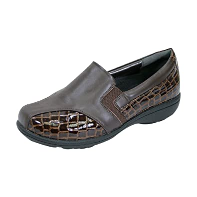 5cc021f95a2f Peerage FIC Agatha Women Extra Wide Width Dress Loafer Brown 5