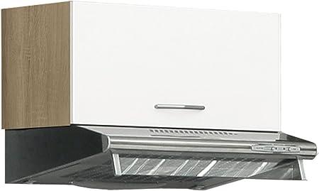 Mueble de cocina armario colgante corto roble/blanco Benni 19: Amazon.es: Hogar