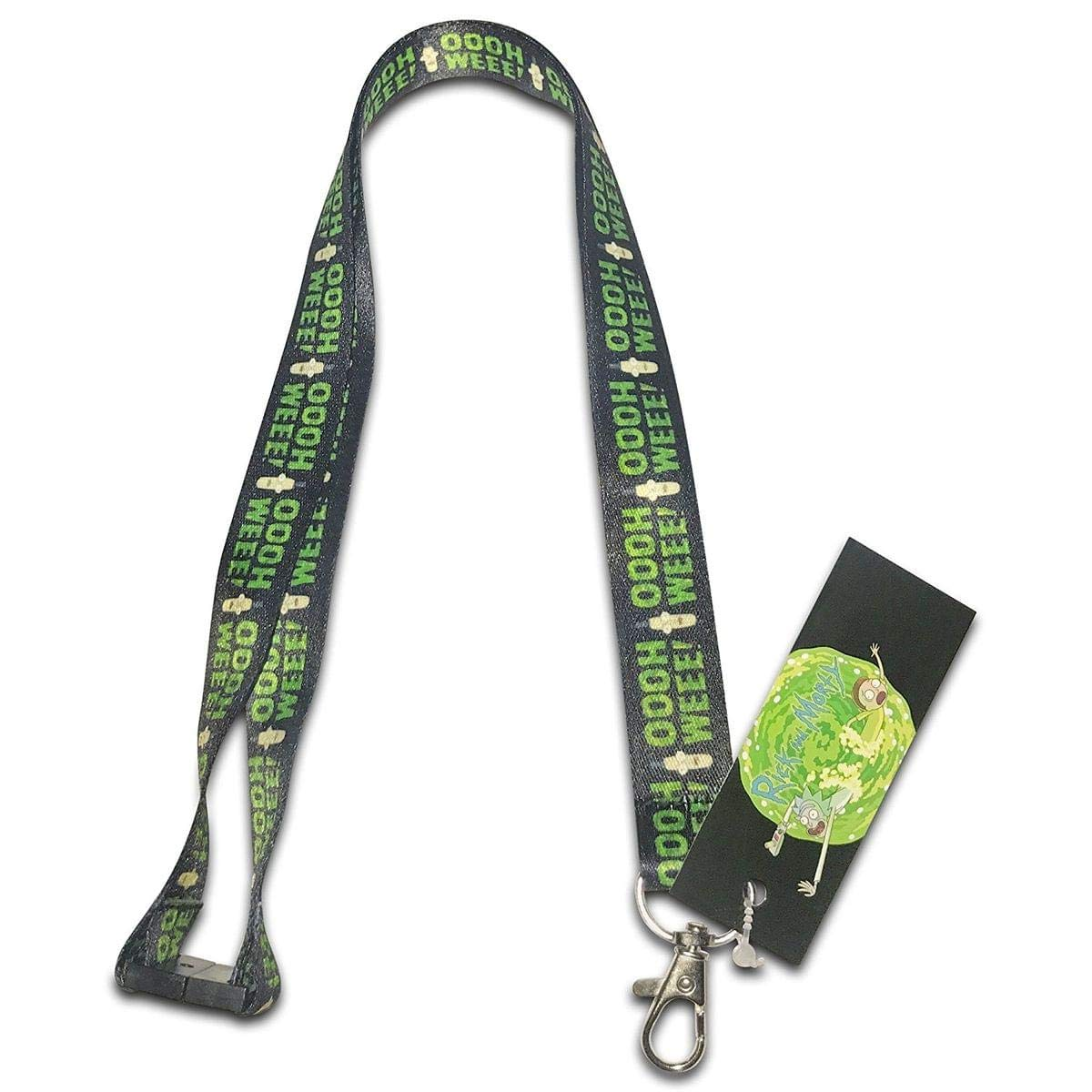 Rick and Morty Pickle Rick Breakaway Lanyard with Charm