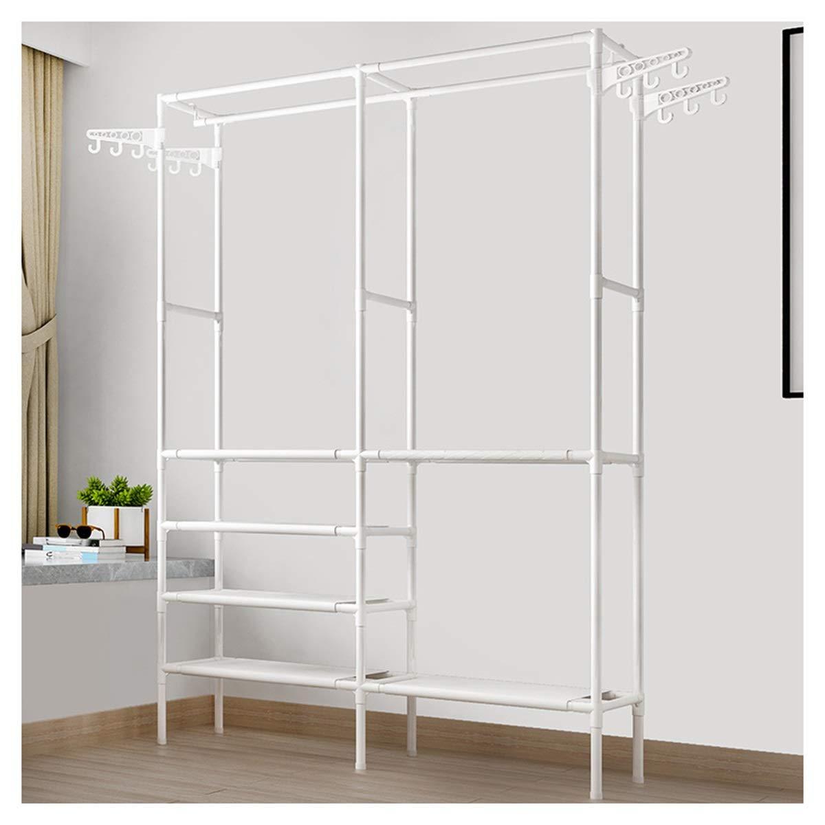 HATHOR-23 - コート ハンガー コートラックフロア寝室ハンガーシンプル洋服ラックホームハンガー経済的なモバイルストレージ (Color : White)  White B07TQSY26D