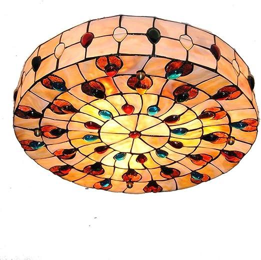 XAJGW Estilo Fácil Ajuste Lámpara de Techo Sombra Plato bajo Sala ...