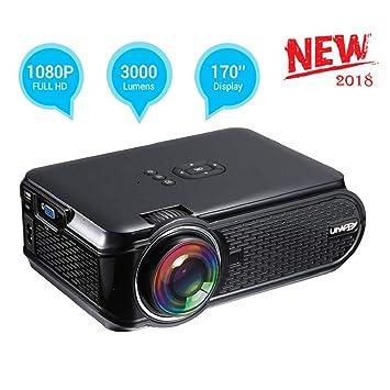 UKSoku U90 Mini Proyector Portátil Home Theater 1080P 3000 Lúmenes LED HD Video Proyector Soporte Películas