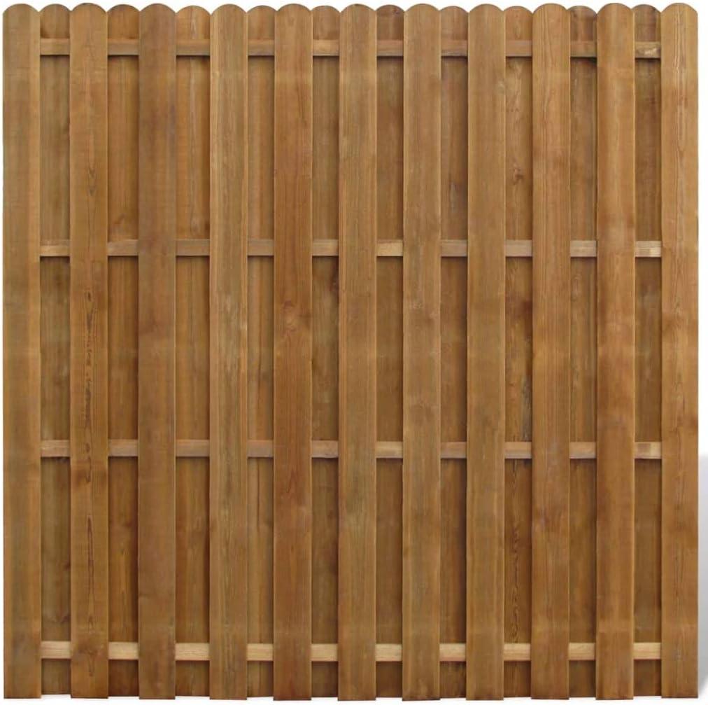 vidaXL Panel de Valla Cuadrado Jardín Madera Marrón 180x180cm Pared Cerca