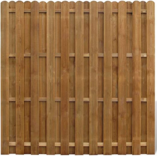 vidaXL Panel de Valla Cuadrado Jardín Madera Marrón 180x180cm Pared Cerca: Amazon.es: Jardín
