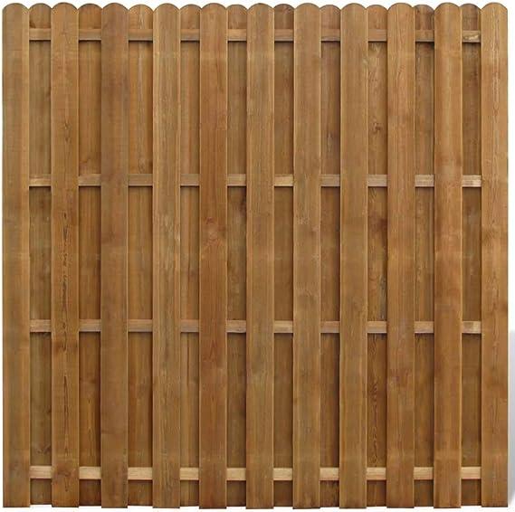vidaXL Panel de Valla Cuadrado Jardín Madera Marrón 180x180cm ...