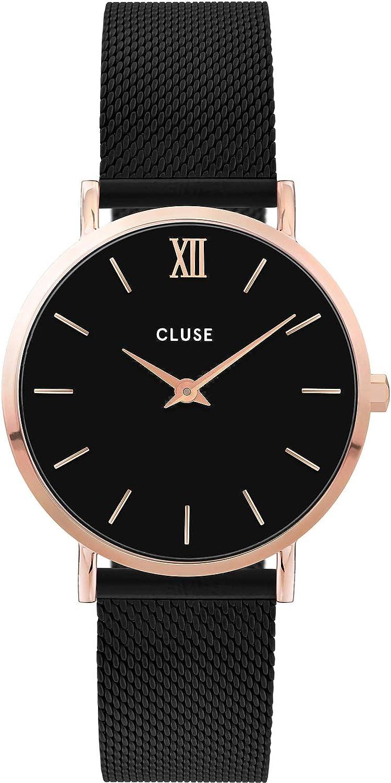 CLUSE Reloj Analógico para Mujer de Cuarzo con Correa en Acero Inoxidable CW0101203024