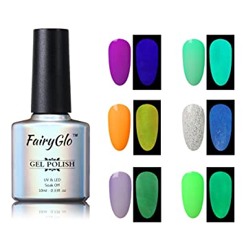 Amazon Nail Polish Uv Led Glow In The Dark Dramatic Nail Art