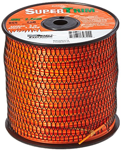 SuperTrim SU095S3-2 0.095-Inch 3-Pound Spool Home Owner Grade Round Grass Trimmer Line, Orange