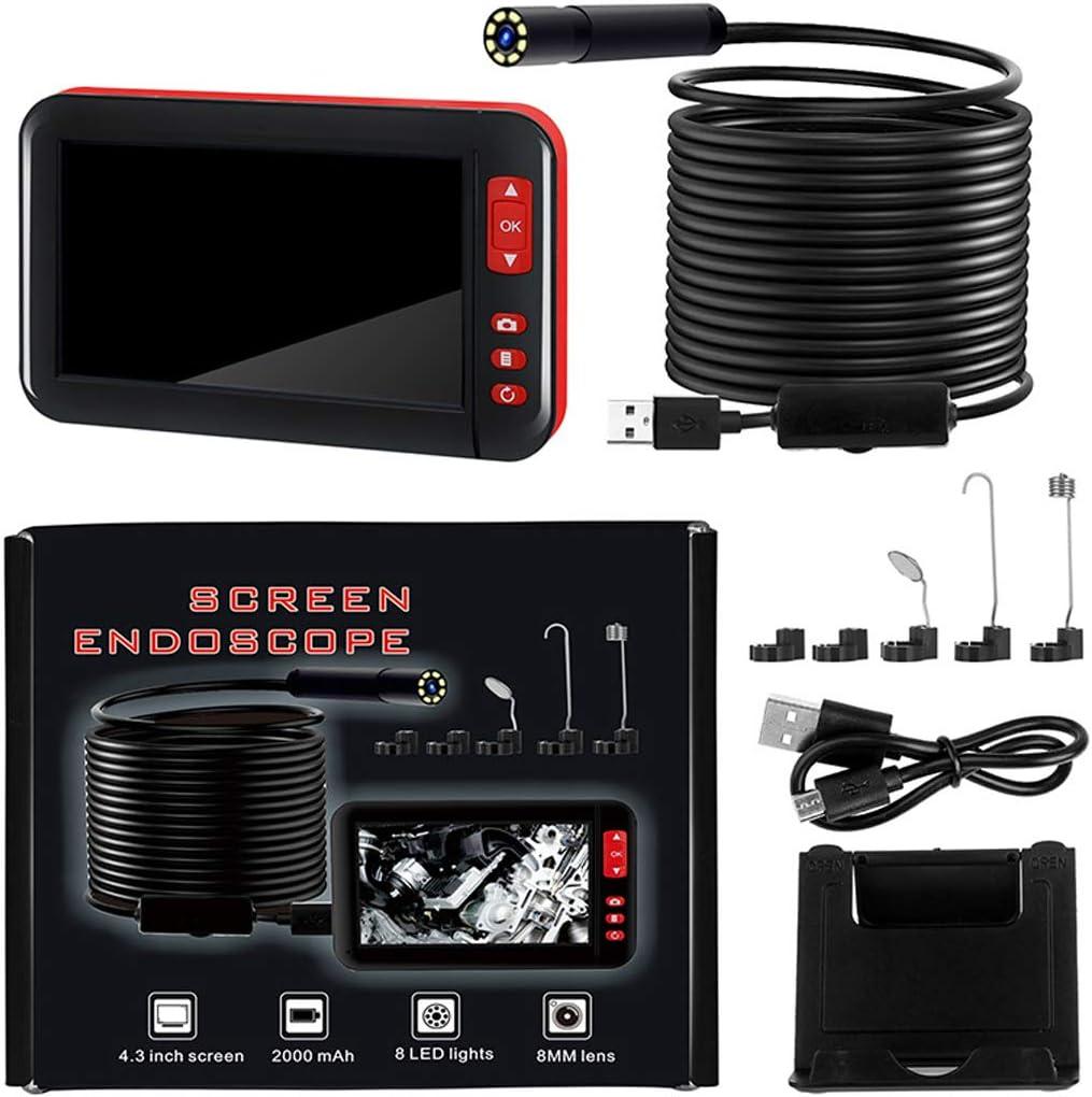 2M WIFIGDS 4,3 Zoll Bildschirm Industrie Endoskopkamera 1080P 8mm//0,31 Flexibel Schlangenkamera Handheld wasserdichte Dachboden Keller Zwischenraum Digitale Inspektionskamera