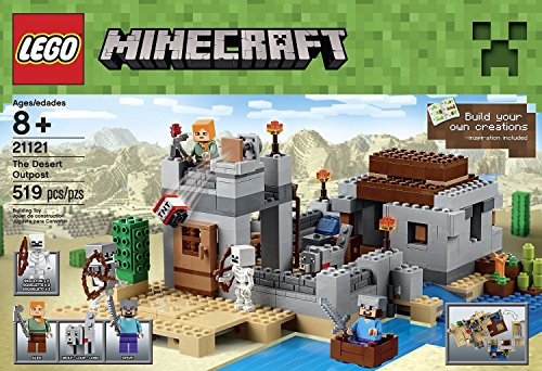 Minecraft LEGO 519 PCS The Desert Outpost Brick Box Building Toys