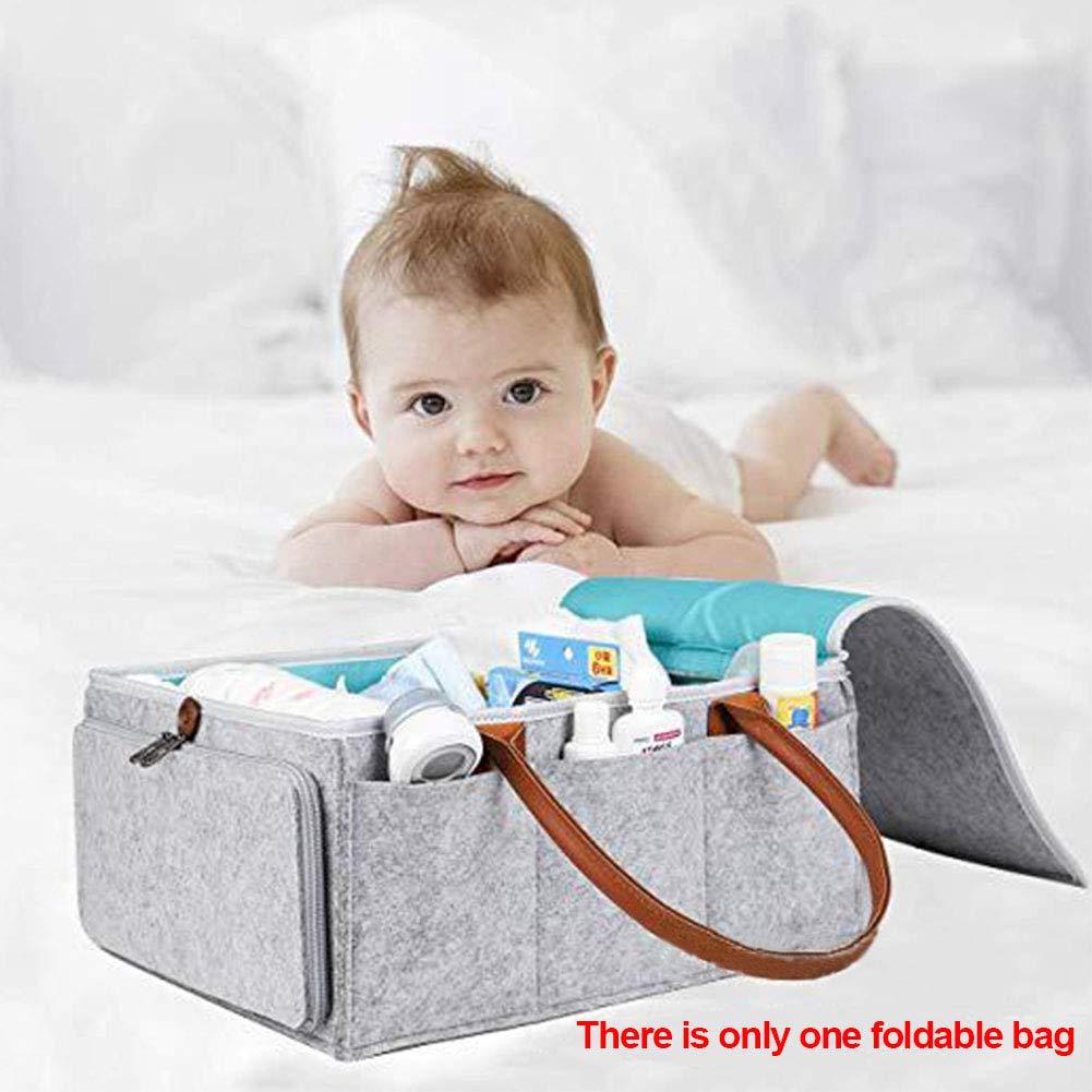 f/ür Babyt/ücher und Kinder Fayeille Baby-Wickeltasche//Wickeltasche mit abnehmbaren Griffen und Abdeckung tragbarer Auto-Reisekorb