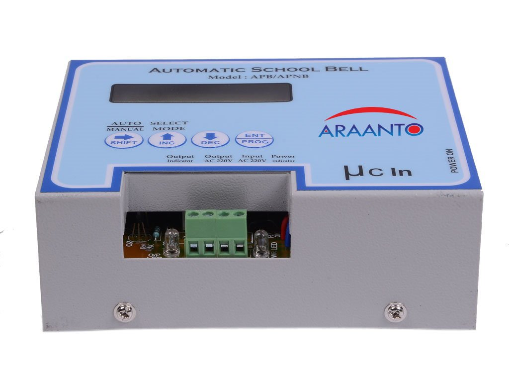 Araanto Automatic School Bell Copper Electronics Electronic Circuit
