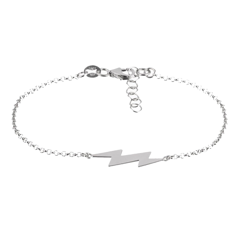 Córdoba Jewels |Pulsera en Plata de Ley 925 con diseño Rayo Silver: Amazon.es: Joyería