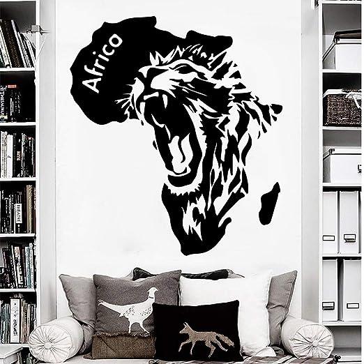 YuanMinglu Mapa Africano león Abstracto Pegatinas de Pared Sala de ...
