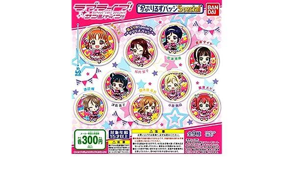 Caprylic not a badge Special Gashapon 9 set badge Bandai Love Live Sunshine