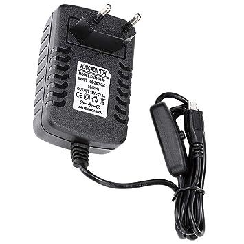 ASHATA Adaptador Micro USB 5V 3A con Interruptor, Adaptador ...