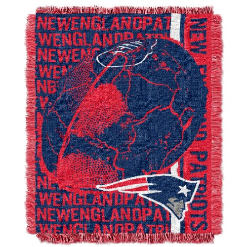 Blanket New England Patriots Soft (The Northwest Company Officially Licensed NFL New England Patriots Double Play Jacquard Throw Blanket, 48