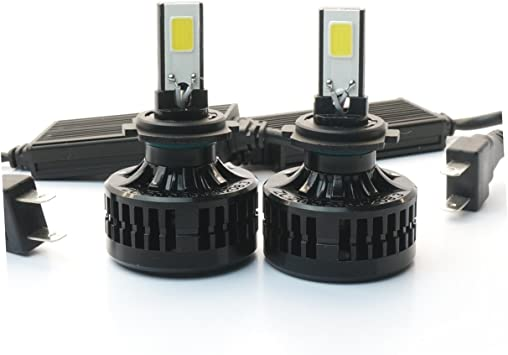 66W HB3 9005 LED Headlight Bulb Conversion Kit High Low Beam Light 3000K Yellow