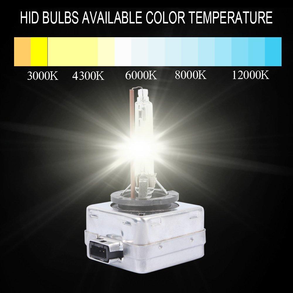 4300k -Blanco Caliente D1S HID Faros L/ámpara de Xen/ón Bombilla de Repuesto pare Coche Reemplazar para Luces Delanteras 12V35W BRL 2 Unidades