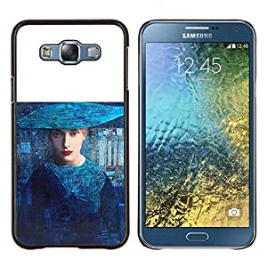 """S-type Art Blue Mujer Moda Haut Couture"""" - Arte & diseño plástico duro Fundas Cover Cubre Hard Case Cover For Samsung Galaxy E7 E700"""