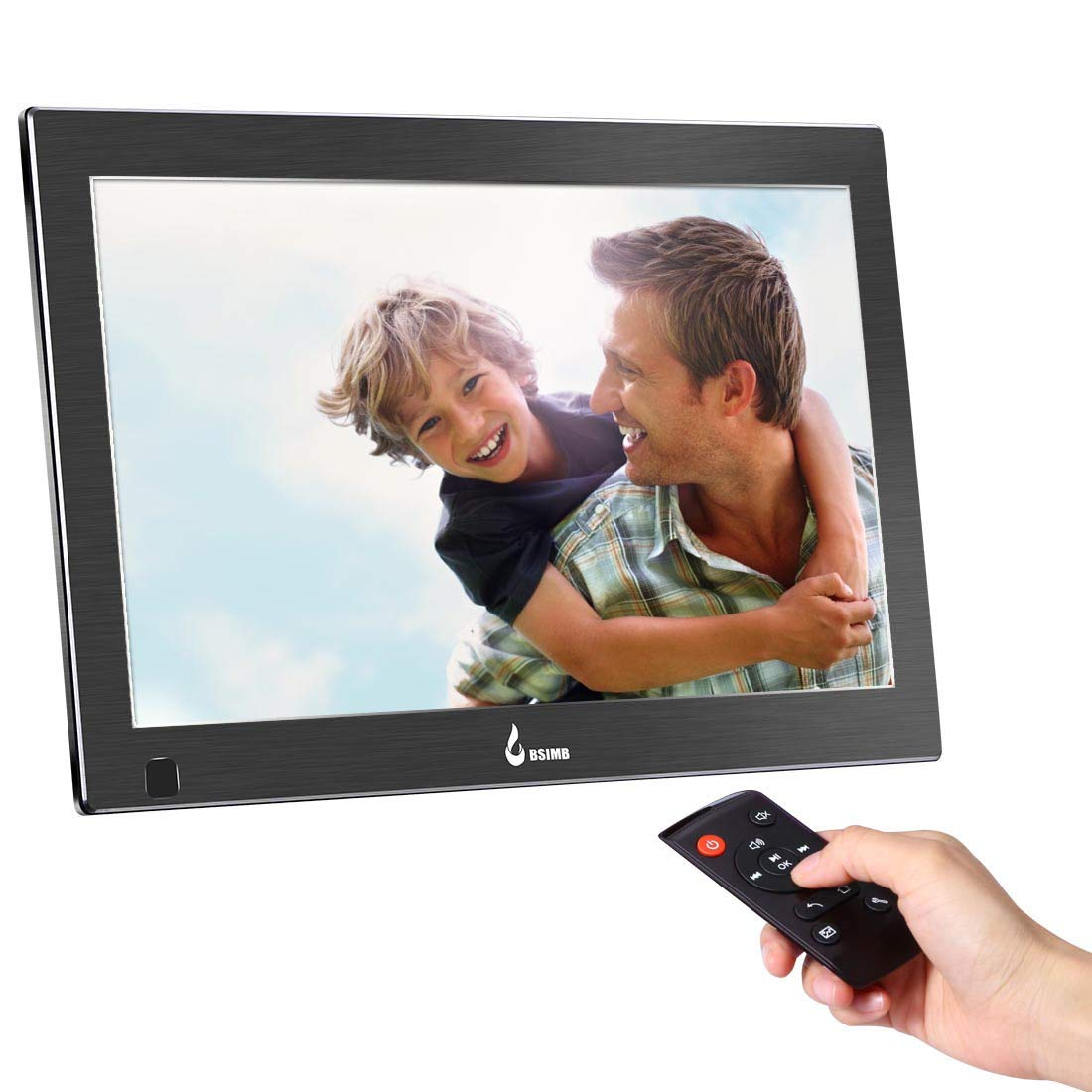 BSIMB 13.3 Inch Digital Picture Frame Digital Photo Frame 1920x1080(16:9) IPS Display Widescreen with Motion Sensor and Remote Control Support USB/SD Card Infrared M14 by Bsimb (Image #1)