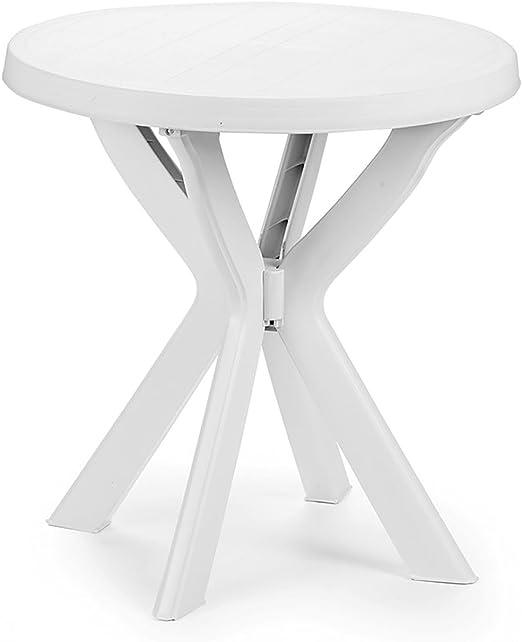Tavolo Giardino Plastica Bianco.Bistro Tavolo Plastica O70 Cm Don Bianco Rotondo Tavolo Balcone