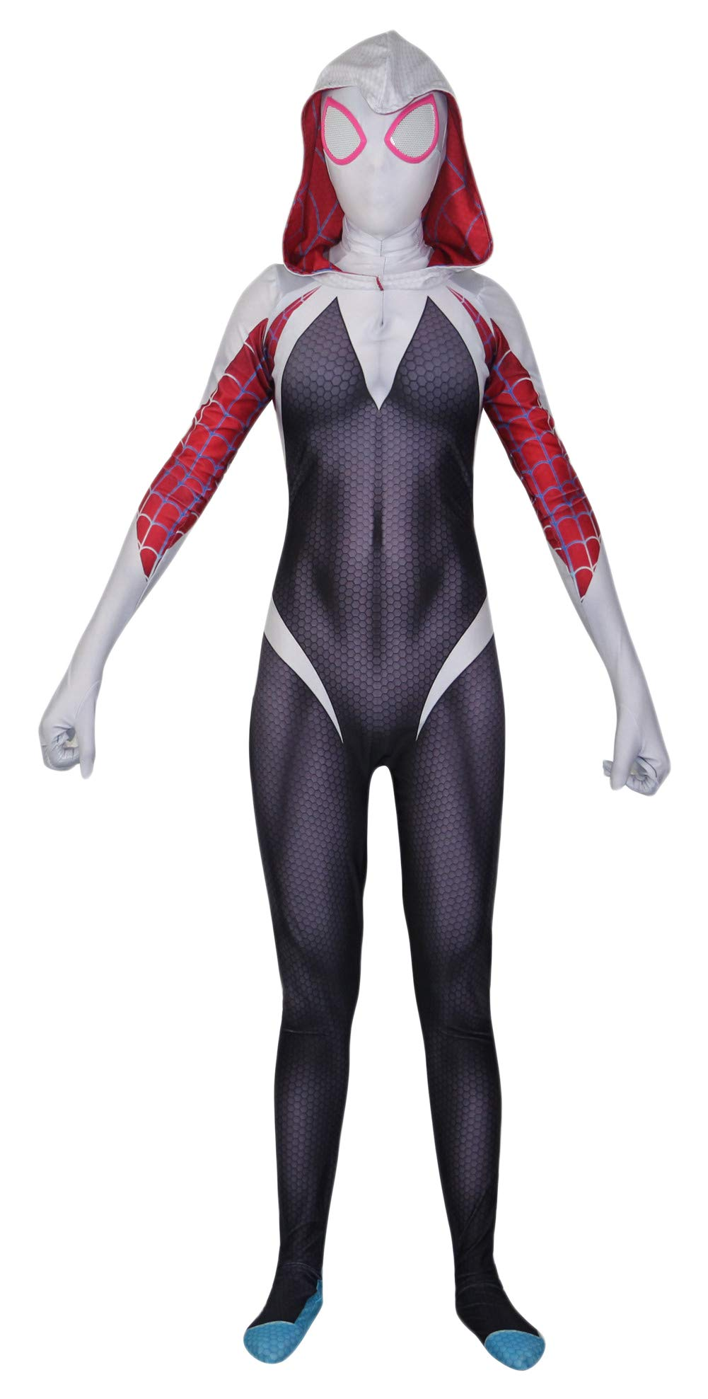 - 613UXfpi7rL - Riekinc Womens Zentai Suits Halloween Cosplay Costumes 3D Style Audlt/Kids