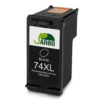 jarbo Rigenerata Cartuchos de Tinta HP 74 75 (1 negro), para ...