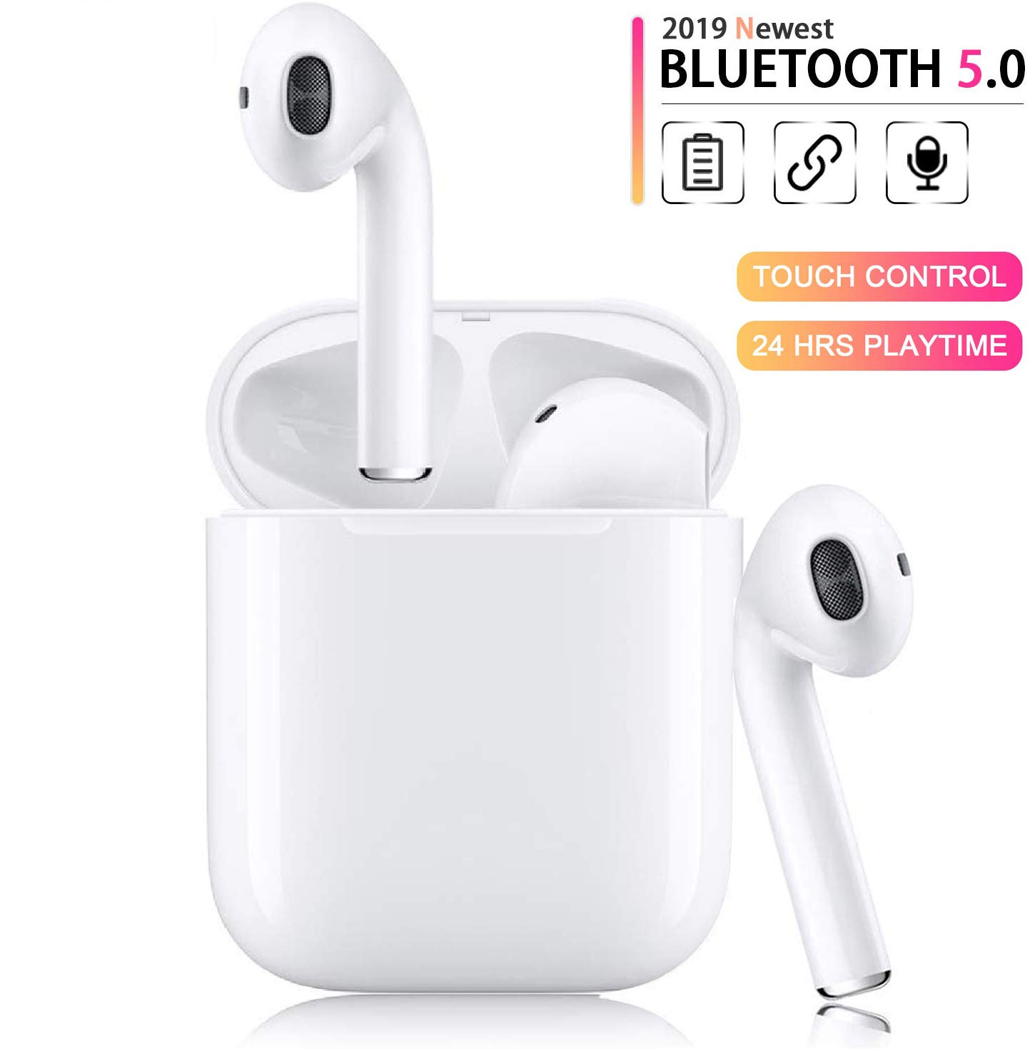 Christmas New Year Gift Q13 Mini Bluetooth Music Earbud Smallest Wireless Invisible Headphone with 5 Hour Playtime Car Headset for iPhone and Android Smart Phones