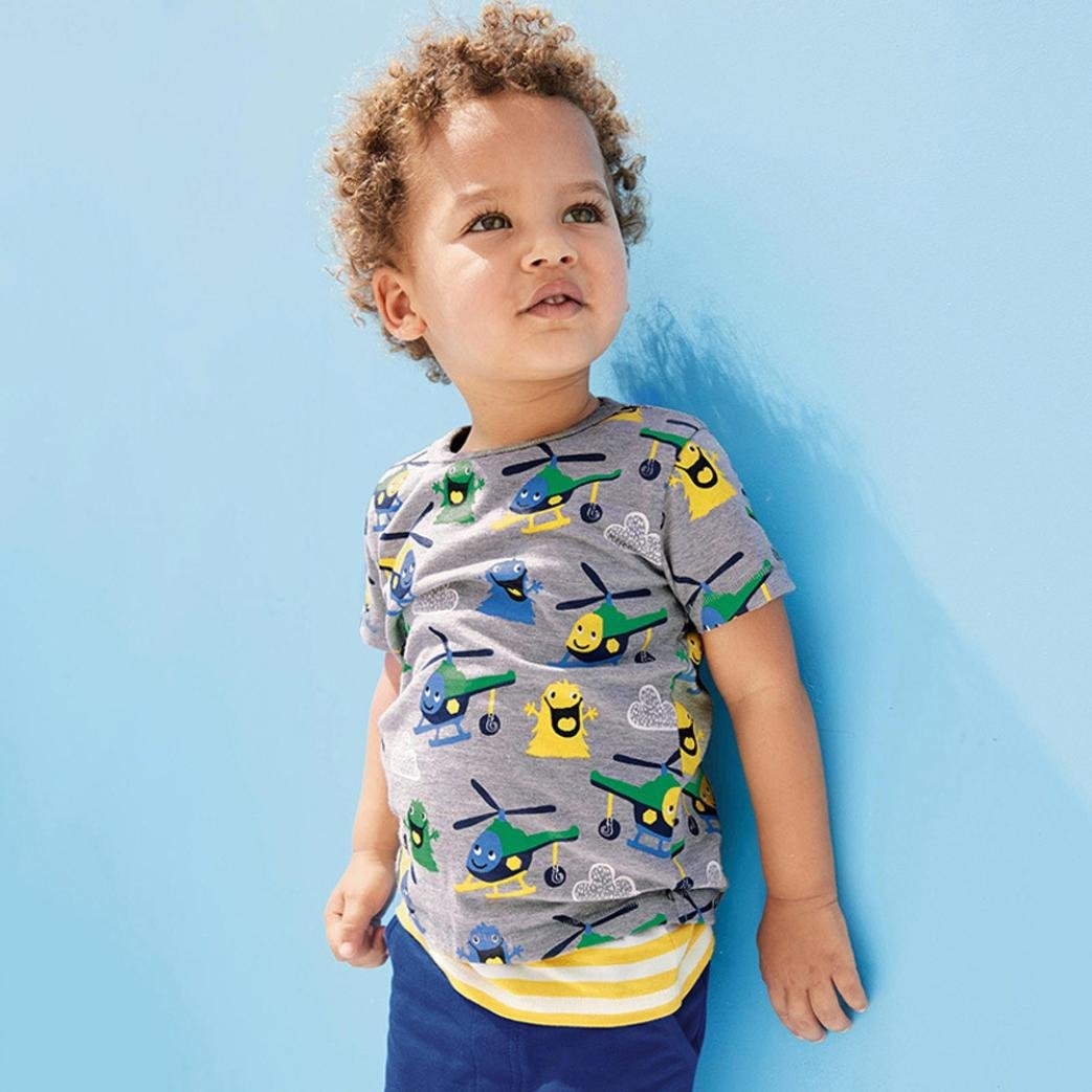 Lurryly 2018 Infant Baby Boys Girls Kids Summer T-Shirts Cartoon Print T Shirts Tops Outfits 1-6T